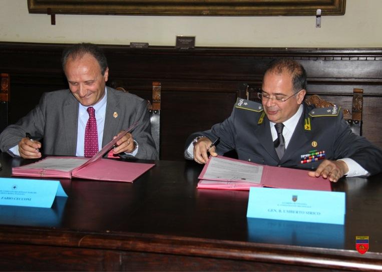 Il Presidente Regionale della CRI e il Comandante Regionale della Guardia di Finanza