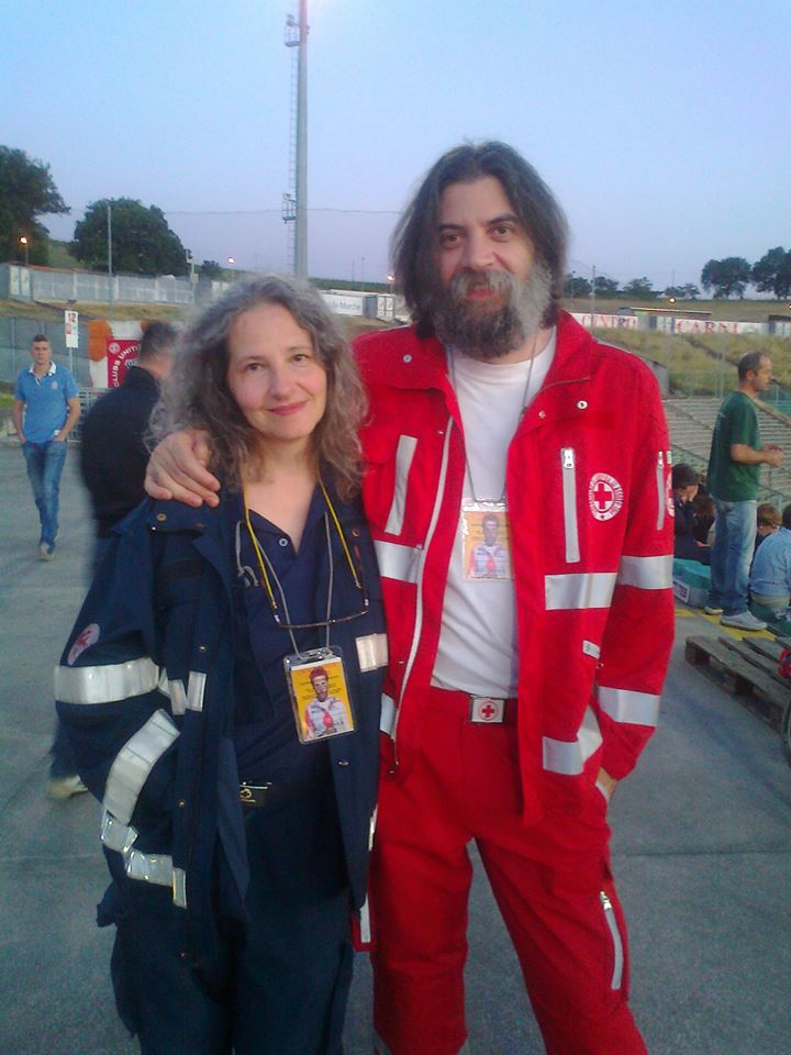 Marco Manzotti con la moglie Maria Grazia