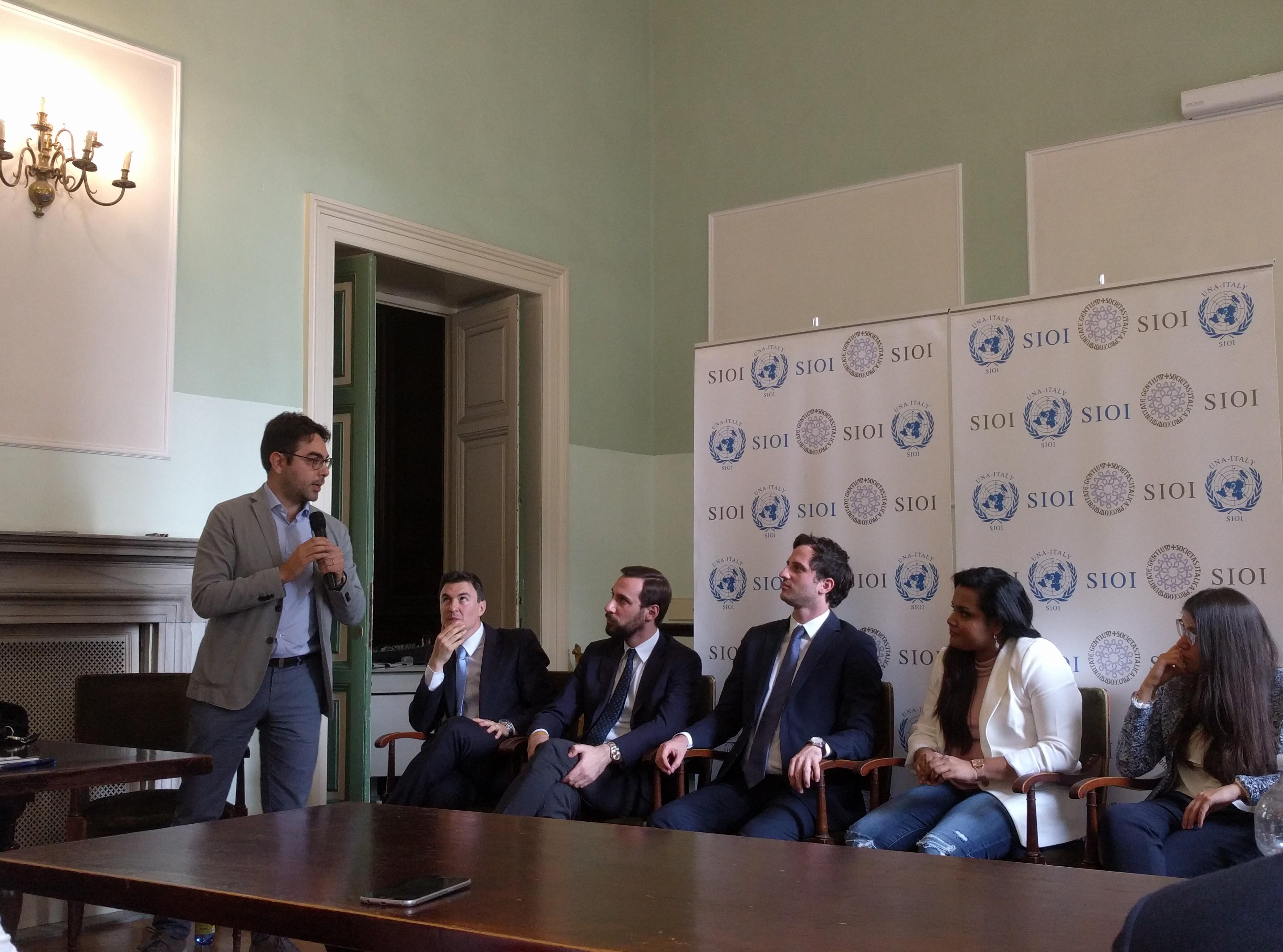 """I Giovani di CRI incontrano l'inviato speciale del segretario generale dell'ONU. Bellocchi: """"Educazione"""