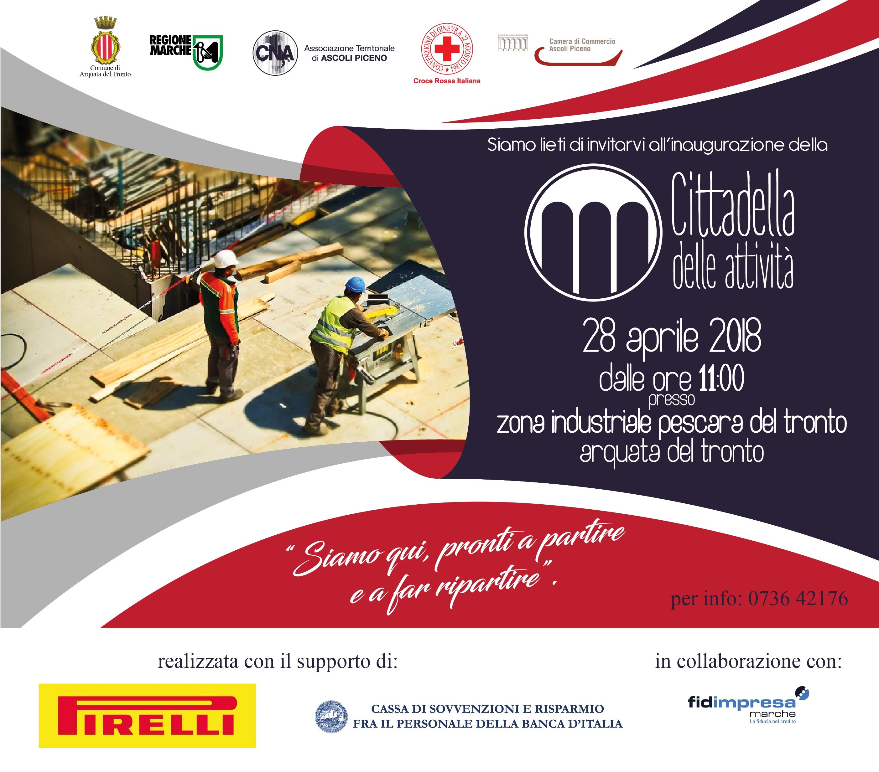 Il 28 Aprile inaugurazione della Cittadella delle Attività Produttive di Arquata del Tronto