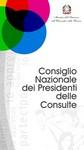 """Immagine del """"Consiglio Nazionale dei Presidenti delle Consulte"""""""