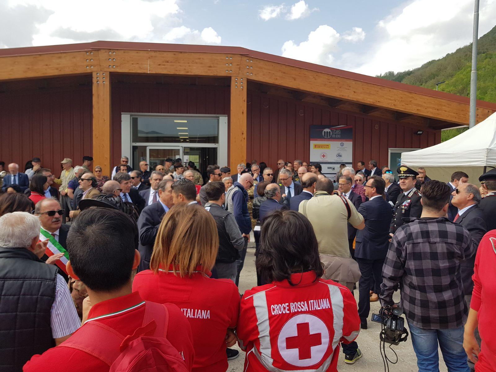 Inaugurazione della Cittadella delle Attività Produttive di Arquata del Tronto