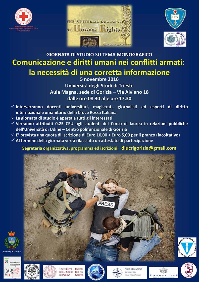 diritti umani e comunicazione per i volontari della Croce Rossa e studenti al Polo Universitario di Gorizia
