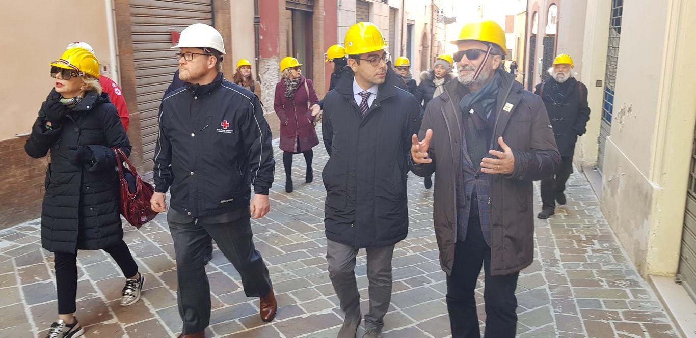 La solidarietà attraversa l'oceano e arriva in Centro Italia: a Camerino e Muccia con la delegazione canadese per i progetti di ricostruzione post-sisma