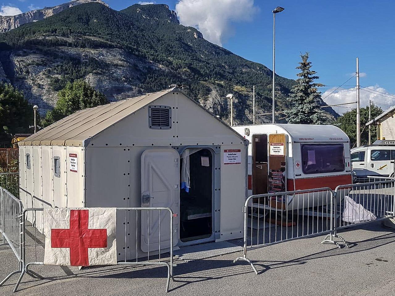Clavier, sulla Via delle Alpi il Safe Point della CRI