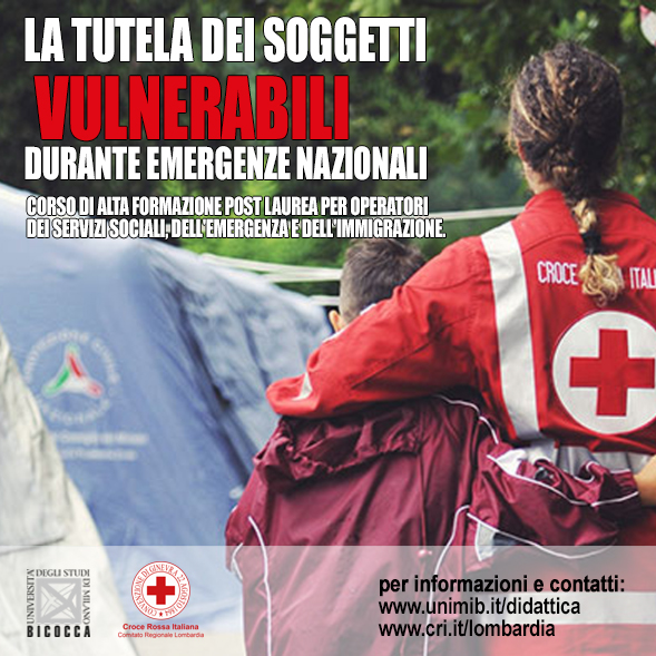 Croce Rossa Italiana e Università Bicocca insieme per la tutela dei soggetti vulnerabili