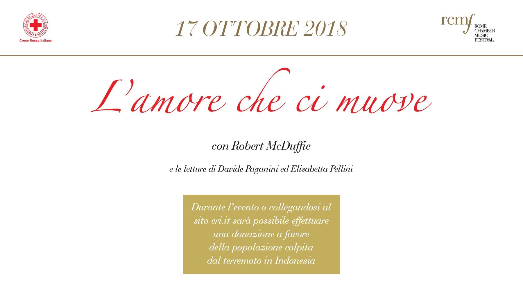 Croce Rossa e Rome Chamber Music Festival insieme per l'Indonesia