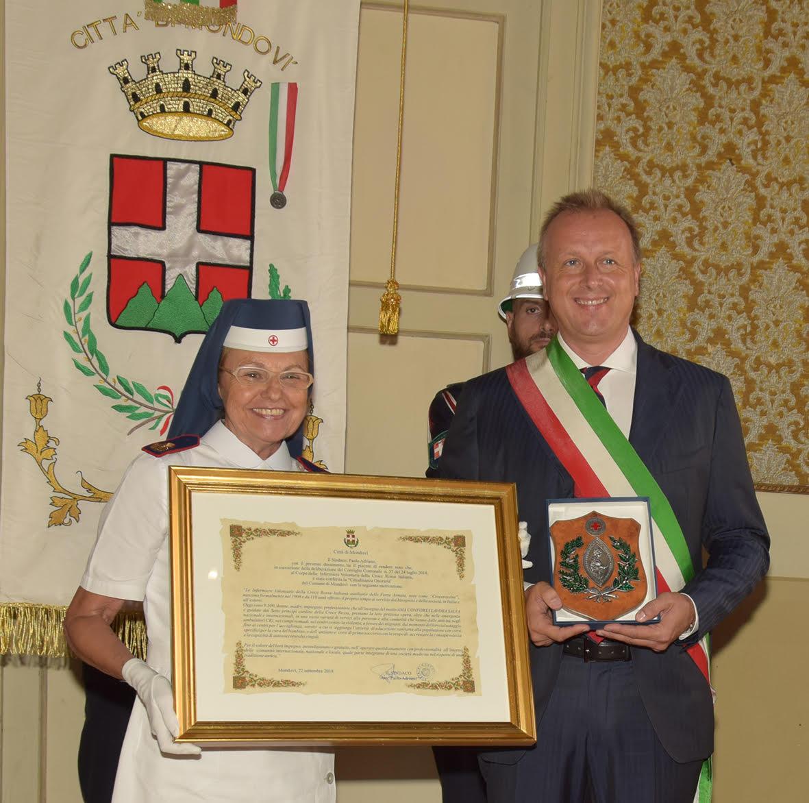 Mondovì – Cittadinanza onoraria per il Corpo delle Infermiere Volontarie della CRI