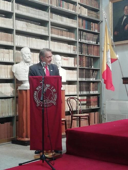 Francesco Rocca Socio d'Onore dell'Accademia degli Zelanti e dei Dafnici