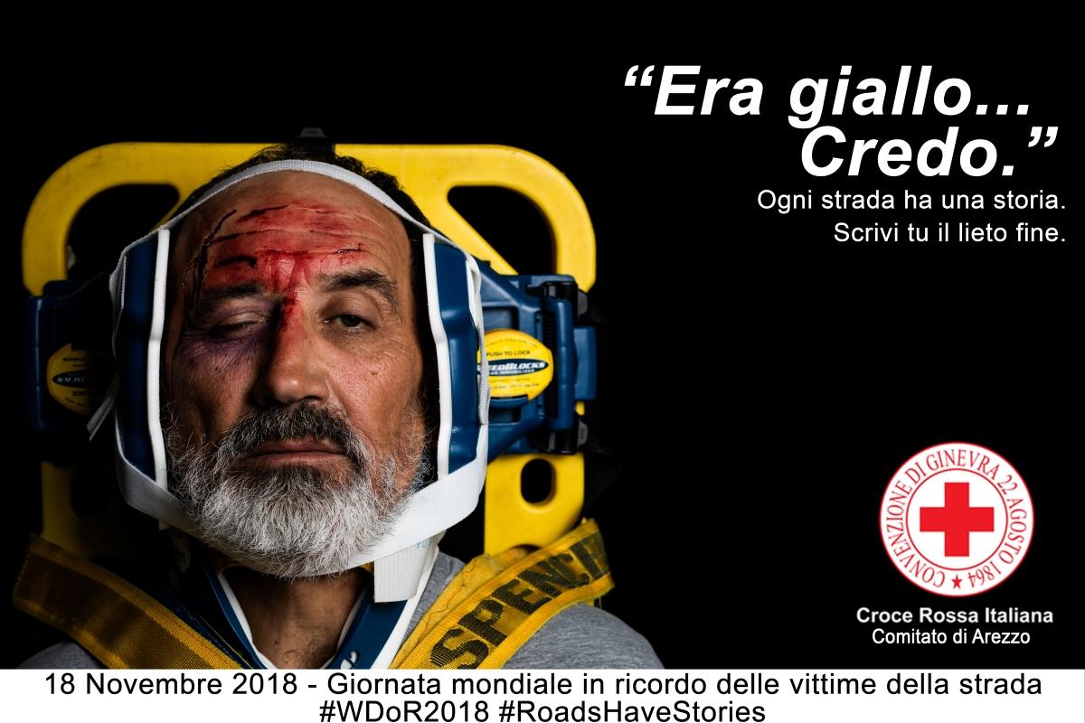 Vittime della Strada, la CRI di Arezzo lancia una campagna fotografica