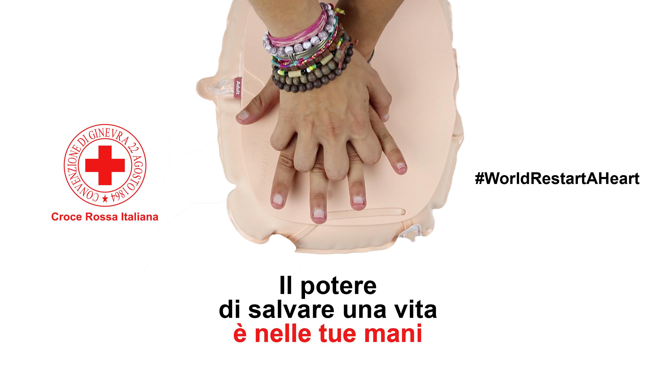 """#WorldRestartAHeart day, la Croce Rossa Italiana lancia il video """"Il potere di salvare una vita è nelle tue mani"""""""