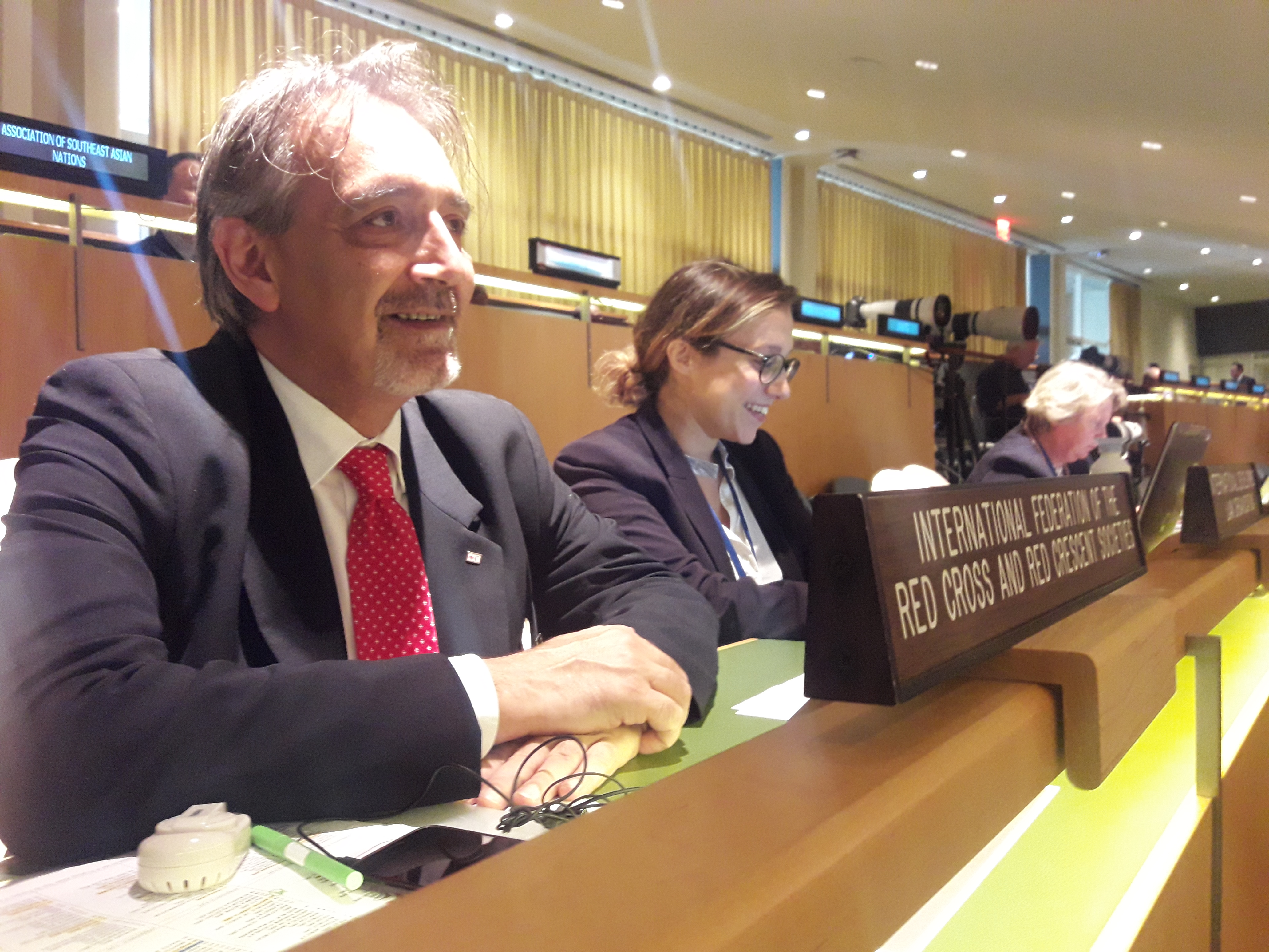 La Croce Rossa alla 73° Assemblea Generale delle Nazioni Unite. Tra i temi affrontati Medio Oriente, rifugiati, diritti umani, tubercolosi, droga