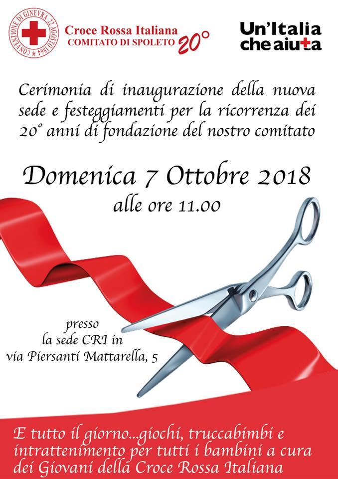 Spoleto: grande festa per i 20 anni di attività e per la nuova sede del Comitato CRI. Fioroni: segno della spinta in avanti dell'Associazione